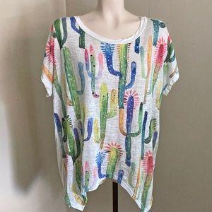 PROMESA cactus boho oversized knit top